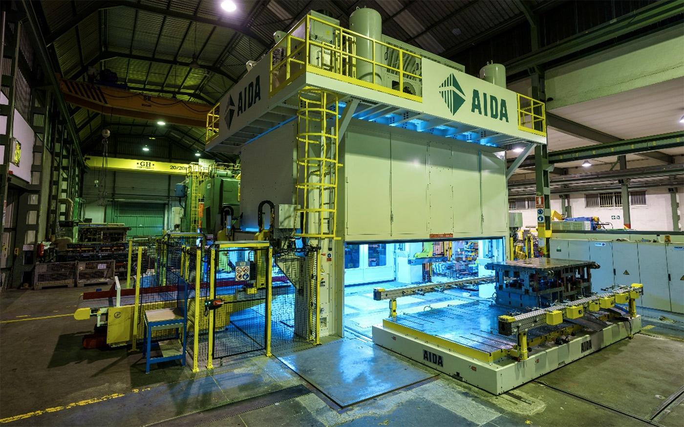 Einweihung der neuen Presse AIDA von 1250 Tonnen EISA